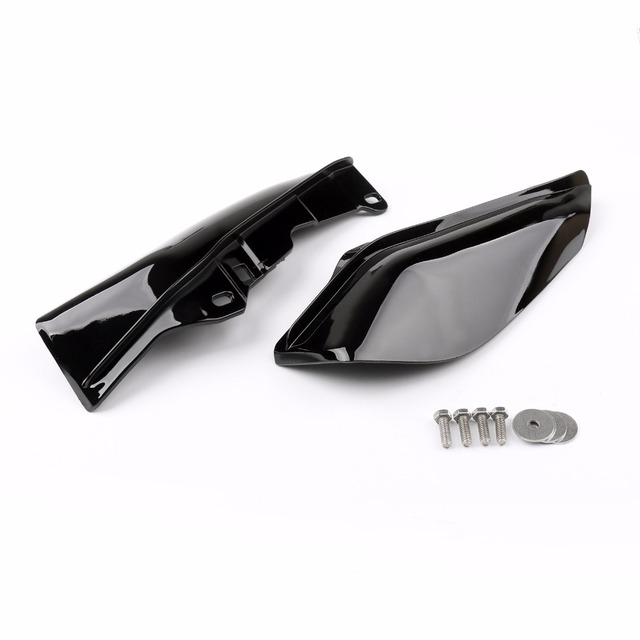 Areyourshop Motorcycle Mid-Frame Air Heat Deflector Trim Accents Shield For Harley Touring Street Glide 1997-2013 Motor Covers