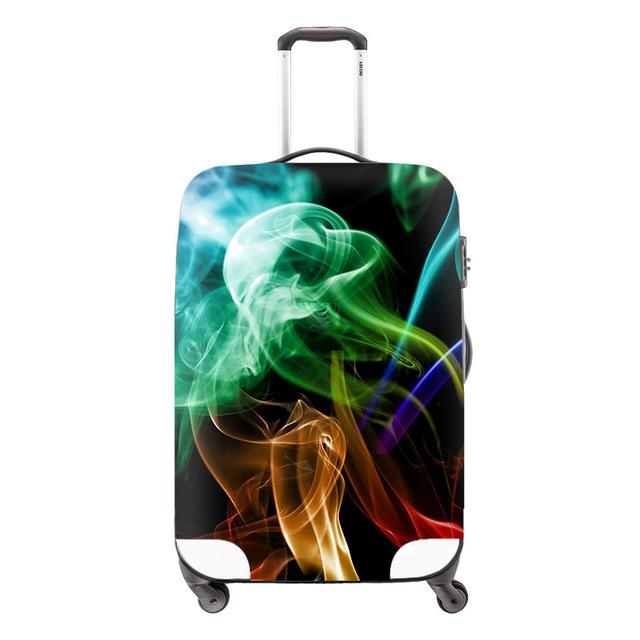 Moda coloridos artificiais viagem bagagem capa capa impermeável proteção cobre para mala de viagem acessórios de viagem