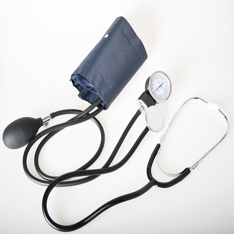 Manual Blood Pressure meter Stethoscope Sphygmomanometer Aneroid Blood Pressure monitor medical equipment Adult health care image