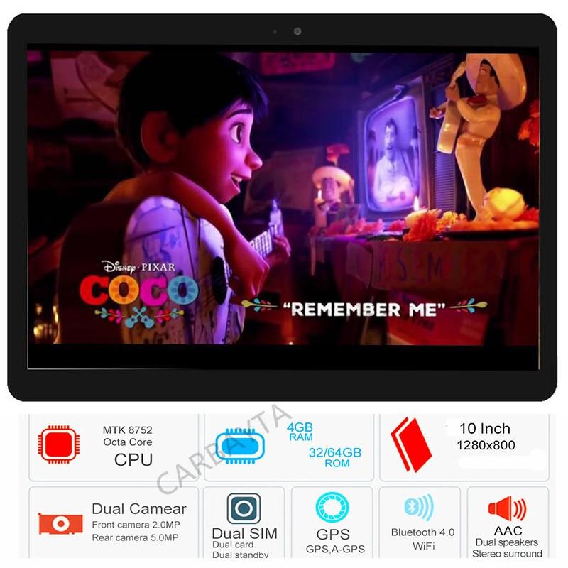 10.1 inch C108 MTK8752 Octa core Tablet PC 4G RAM 32GB 64GB 128GB ROM Dual SIM Cards 5.0M Camera 1280X800 IPS Tablets 10 10.1