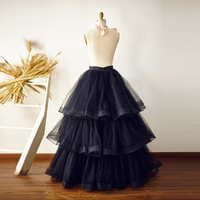 Long Black Cupcake Tulle Skirt Custom Made Tiered Tulle Tutu Skirt American Apparel High Quality For