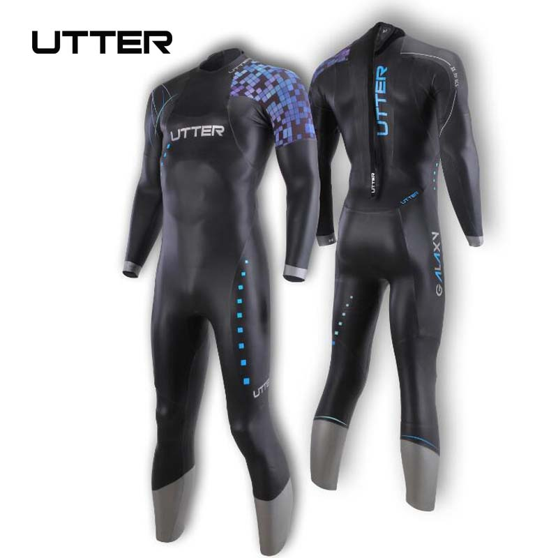 UTTER Galaxy Men s SCS Triathlon Suit Yamamoto Neoprene Swimsuit Long Sleeve Wetsuit Surf Suits for