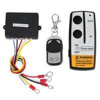 Winch DC 12V Remote Control 2 sets Wireless Winch Remote Control Kit DC 12V 50 Feet for Jeep Truck SUV ATV