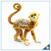 Factory Direct Sale Enamel Craft Monkey Shape Crystal Jewelry Box