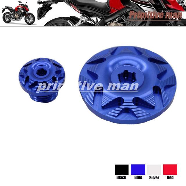 Motocicleta tampa de rosca tampa de enchimento de óleo do cárter do motor tampa camshaft ficha para honda cb600f hornet 2007-2013 & cbr650f/cb650f 2014