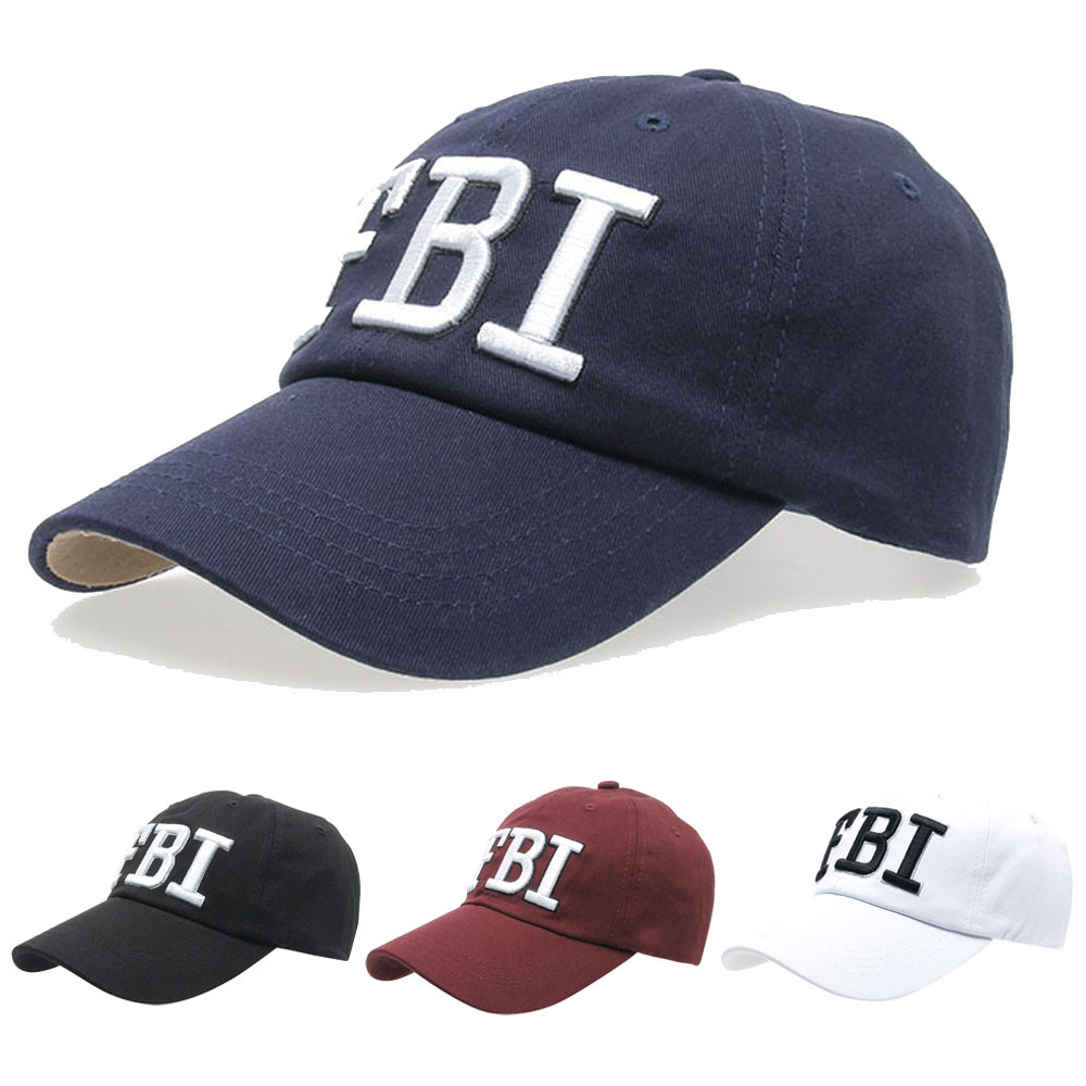 Snapback New Summer   Baseball     Caps   Women Men FBI Letters embroidery Denim   Baseball     Cap   Snapback Hip Hop Flat Hat bone casquette
