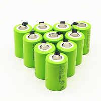 10/12/15PCS 4/5SC 1.2V batteria ricaricabile 3200mAh 4/5 SC Sub C Ni -CD cellulare con linguette di saldatura per cacciavite trapano elettrico