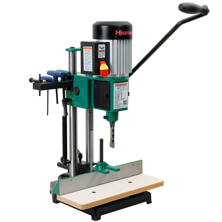 750W adjustable head double column drilling rig H1671 square boring machine opening machine in Wood Boring Machinery from Tools