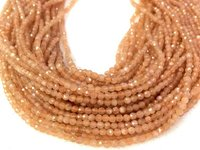 5strings of Natural Peach Moonstone 2mm 3mm 4mm Micro Faceted Beads,Tiny Peach Gem stone Beads,Tiny Moonstone Beads for jewelry