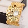 2016 nuevas Mujeres De Lujo Reloj Pulsera de Oro Las Mujeres Reloj de pulsera de Cuarzo Vestido de Dama elegante Reloj de Moda Reloj de Regalo relogio feminino