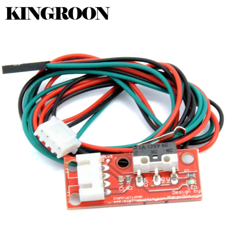 6pcs/lot Endstop Mechanical Limit Switches with 3Pin Cable 3D Printers Parts For RAMPS 1.4 Control Board Part Switch Accessories freeshipping 5pcs lot endstop mechanical limit switches 3d printer switch for ramps 1 4