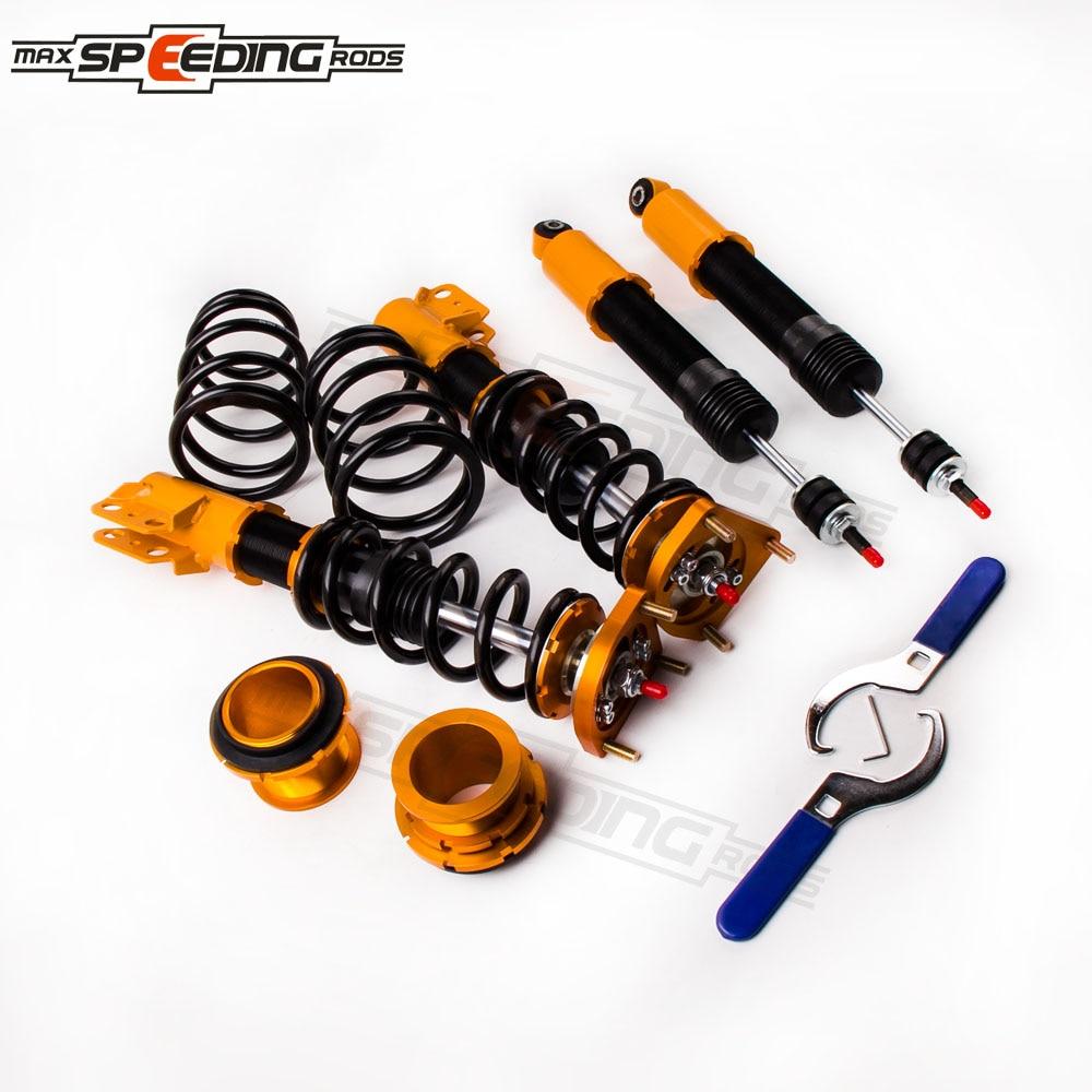 24 way Adjustable Damper Coilover Suspension Kit for 94 04 Ford Mustang 4th Shock Absorber Struts RED