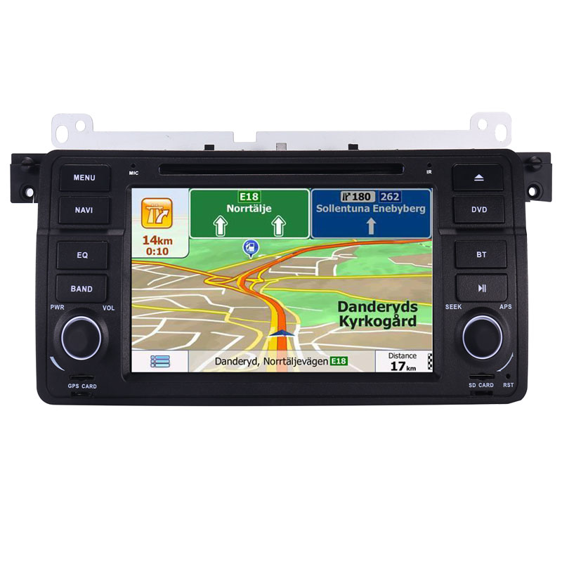 Image 2 - Factory Price 1 Din Car DVD Player for BMW E46 M3 With GPS Bluetooth Radio RDS USB Steering wheel Canbus Free Map+Camera MIC-in Car Multimedia Player from Automobiles & Motorcycles