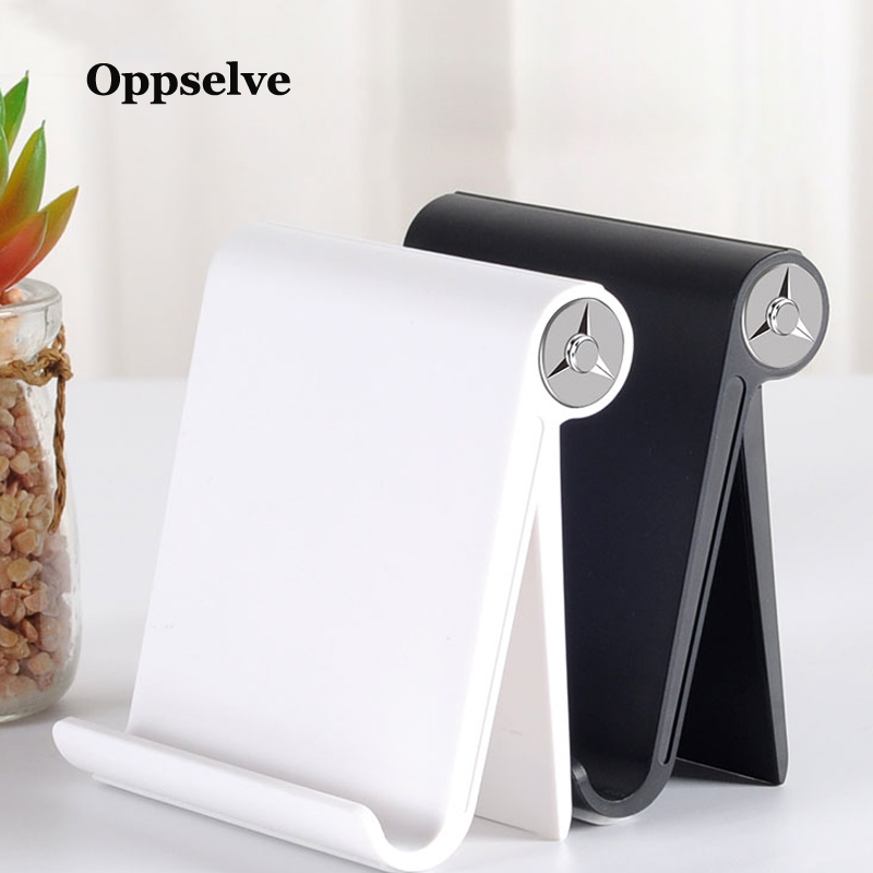 Oppselve Desk Phone Holder For IPhone XS Max XR X IPad Samsung Tablet Adjustable Stand For Phone Cell Mobile Phone Holder Stand