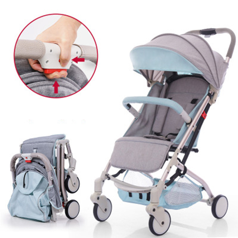 Baby stroller ultra light portable sit lie folded umbrella baby child on plane baby cart