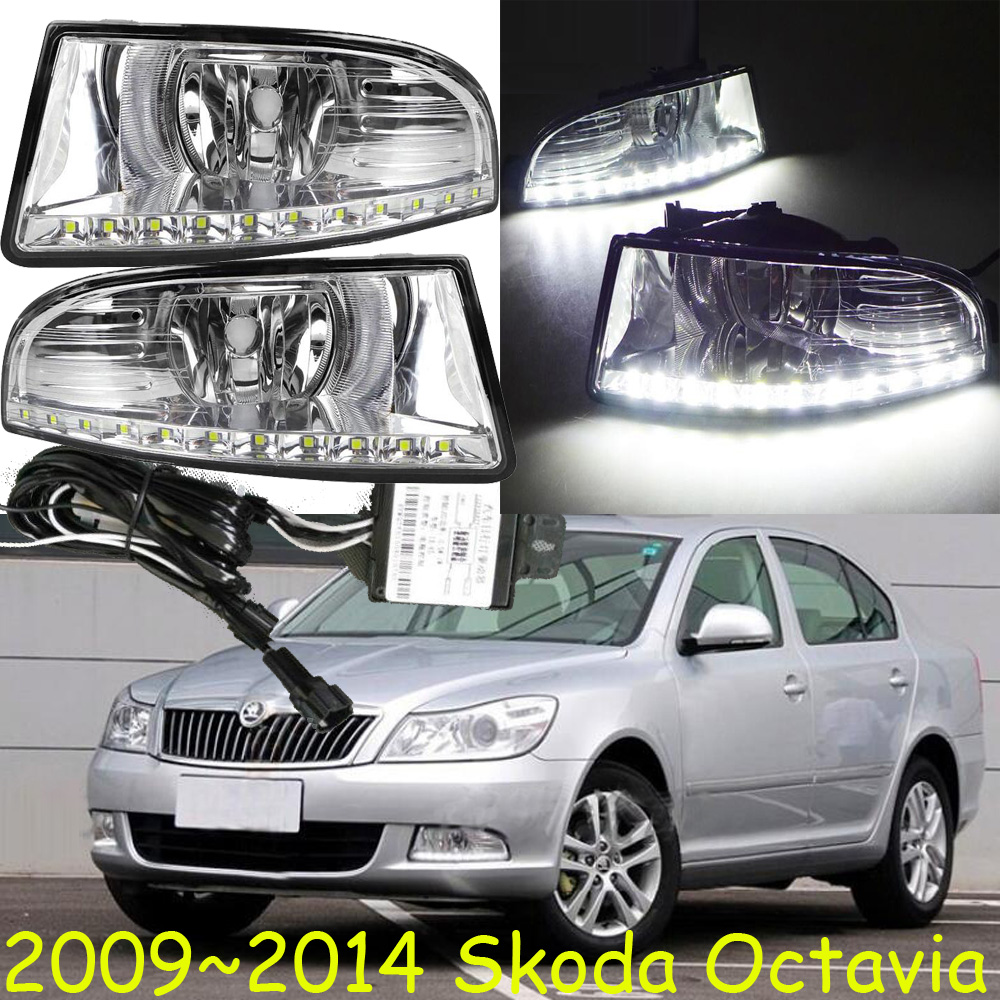 Skod Octavia daytime light;2009~2013/2014~2016 Free ship!LED,Octavia fog light,2pcs/set;Superb;Octavia 2013 2016 cadilla xts daytime light 4pcs set led free ship xts fog light ats sls srx xlr