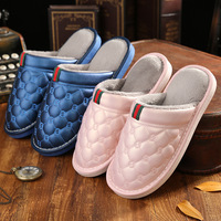 2016High Quality Fashion Winter Warm Home Slippers Couples Leisure Lamb Wool Women Men Indoor Floor Pink
