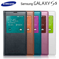 Smart View Sleep Wake Leather Case Flip Cover With Original Chip Phone Case For Samsung Galaxy