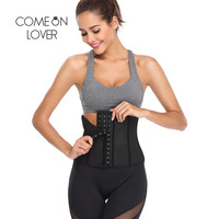 Comeonlover Corset Waist Trainer Corsets Steel Boned Steampunk Sexy Intimates Corselet and Bustiers Waist Trainer Shaper AI2251