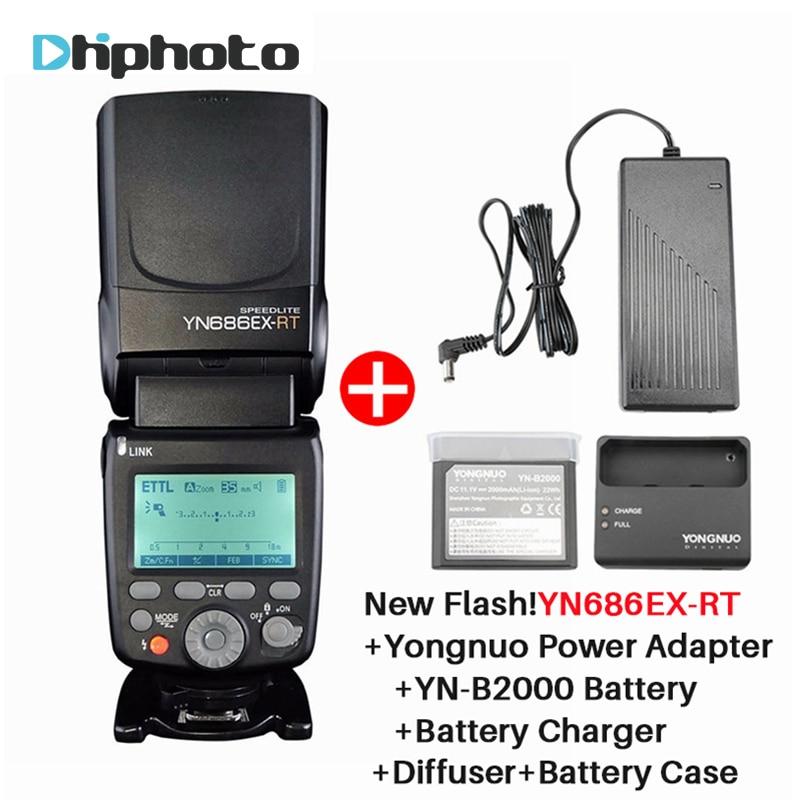 YONGNUO YN686EX-RT Wireless Speedlite 2.4G HSS 1/8000s ETTL/M/MULTI Lithium Flash Light for Canon YN600EX-RT YN685C 700D 650D yongnuo flash speedlite yn600ex rt for canon as canon 600ex rt yn e3 rt