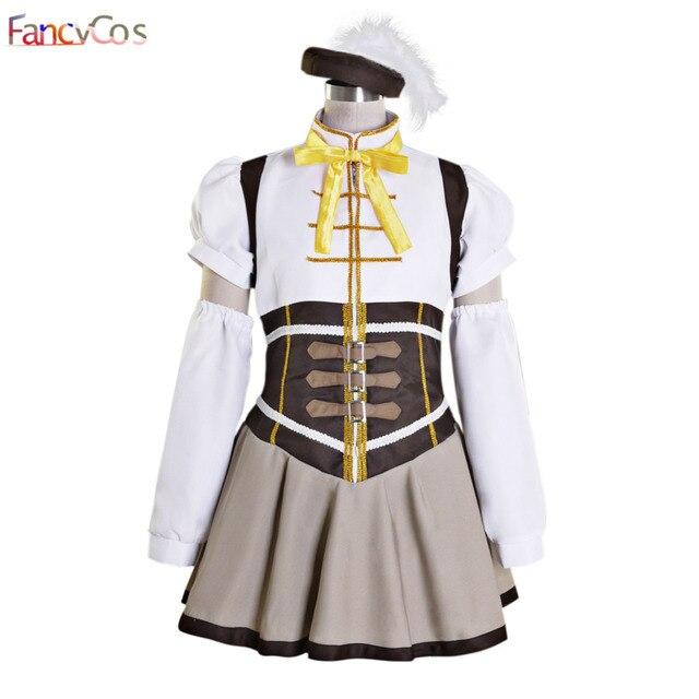 Halloween Women's Puella Magi Madoka Magica Tomoe Mami Dress Cosplay  Costumes adult costume movie High Quality
