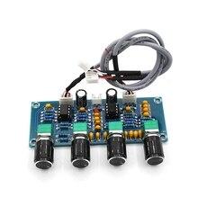 XH A901 ne5532 placa de som com graves agudos, ajuste de volume pré amplificador de tom controlador para placa de áudio amplificador