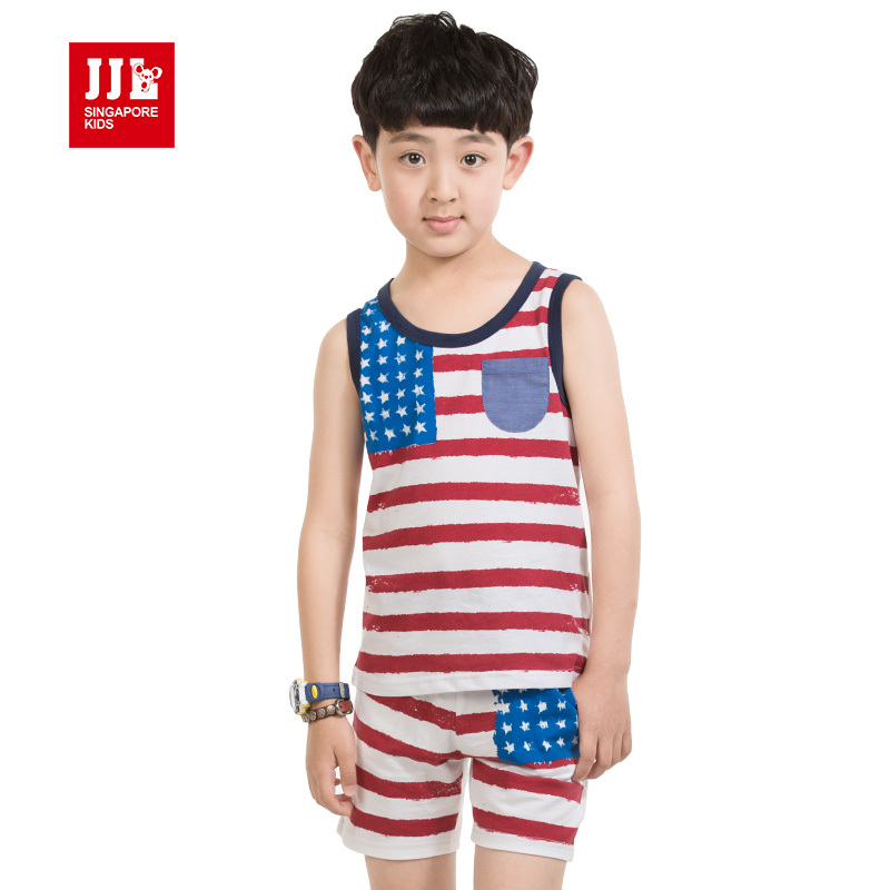 boys suit American flag print kids summer outfits sleeveless t shirt+shorts  cotton suits sports suit boys - Online Get Cheap Flag Outfits -Aliexpress.com Alibaba Group