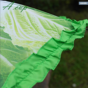 Image 5 - 크리 에이 티브 양배추 우산 양상추 접는 써니와 비가 오는 우산 안티 진드기 비치 재미 있은 야채 우산 파라솔