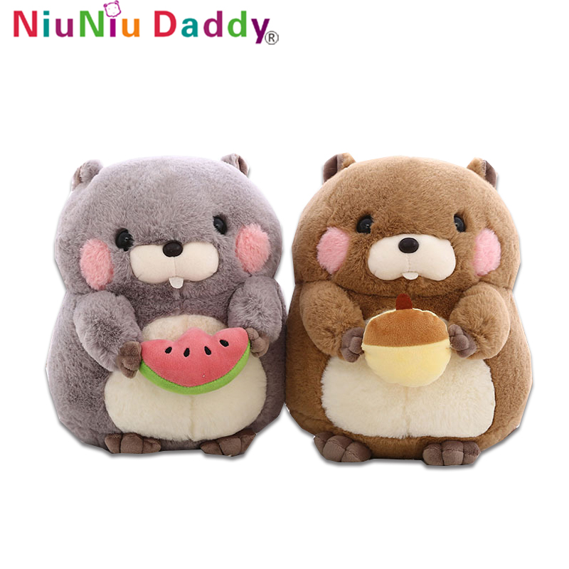 Niuniu Daddy New Cute Groundhog Doll Plush Toy Hamster Doll Lovely Stuffed Soft Appease Doll For Child Kids Baby Christmas Gifts cute simulation fox plush toys kids appease doll gifts