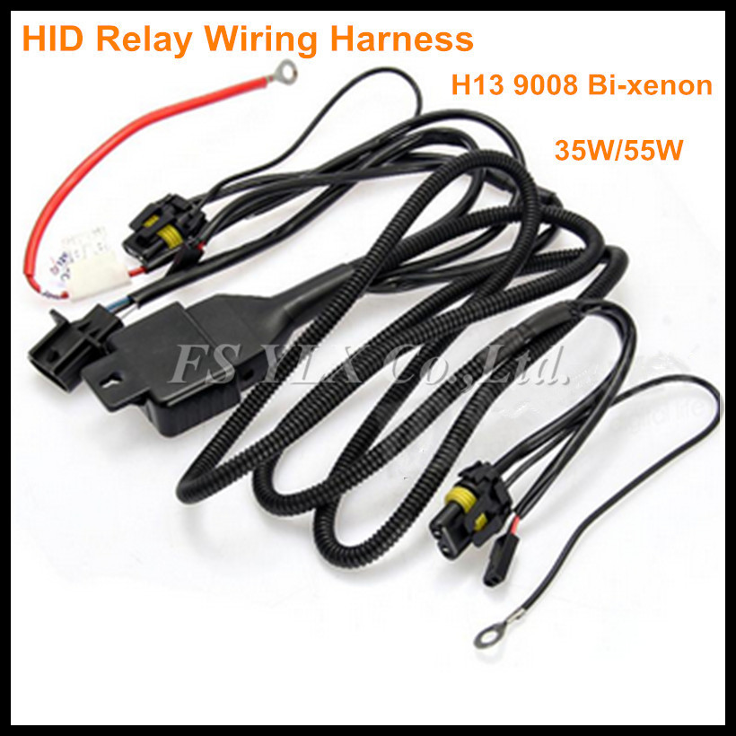 12V 35 55W 75W H13 Hi Lo Beam Bi xenon Relay Harness For HID Conversion Kit aliexpress com buy 12v 35 55w 75w h13 hi lo beam bi xenon relay 12v/55w wiring harness controller at eliteediting.co