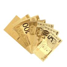 SOLEDI банкноты античные покрытые украшения сувенир 24 к позолоченные евро монеты подарки украшение дома поддельные деньги