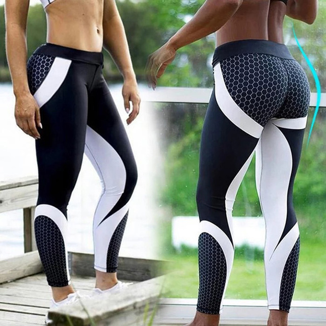 96caf3882418d Printed Push Up Women Yoga Pants Sexy Shaping Hip Sport Leggings Fitness Workout  Gym Tights Stretch Bodybuilding Training Trouse