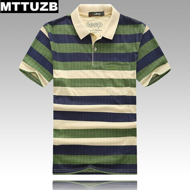 2017 MTTUZB men fashion colorful strip tops men's casual short sleeve polo shirts male tees clothes man clothes 3 colors
