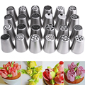 24pcs/lot Metal Stainless Steel Cutters Professional Cake Decorators Russian Pastry Nozzles Piping Tips for the Kitchen Baking