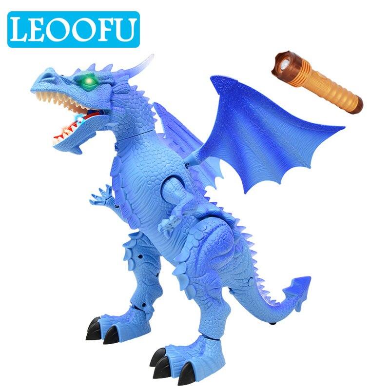 LEOOFU jouer jouets pour enfants simulation brillant dinosaure action créatrice animal électronique pet animal modèle de éducatifs