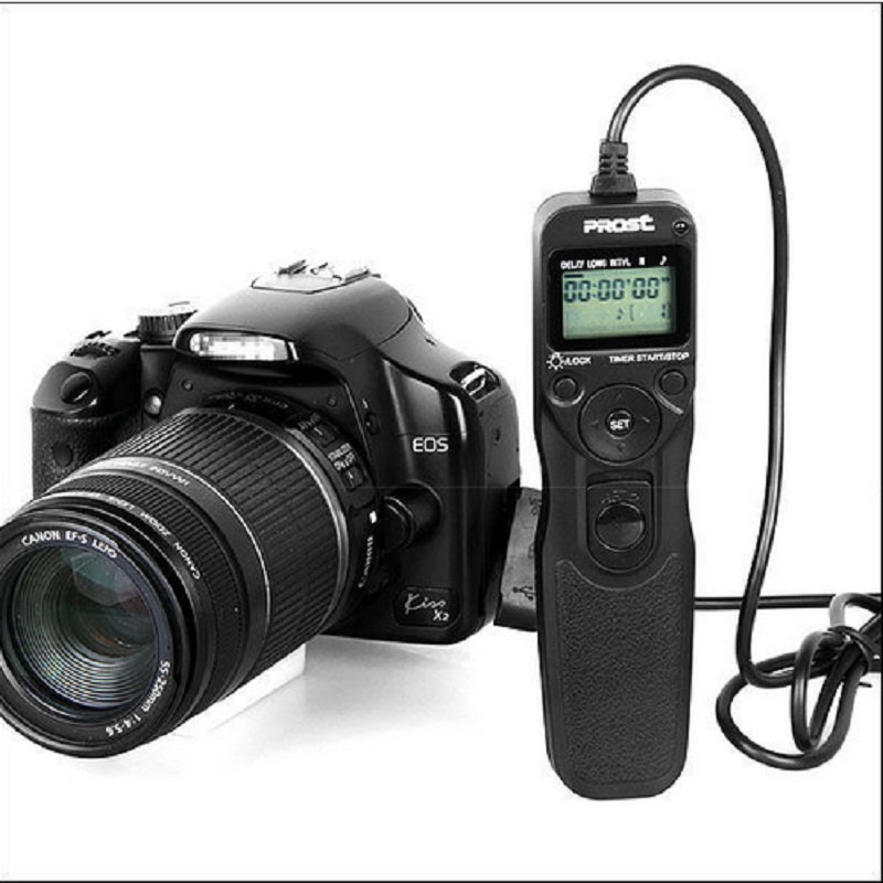 US $15 99 |PROST MC C3 RS 80N3 Timer Remote shutter Release Cord For Canon  EOS 50D 40D 30D 5D 7D 1D-in Shutter Release from Consumer Electronics on