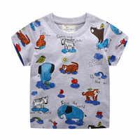 Mètres de saut marque t-shirts hauts pour bébé garçons été t-shirts animaux imprimés enfants coton éléphant vêtements mode enfants hauts