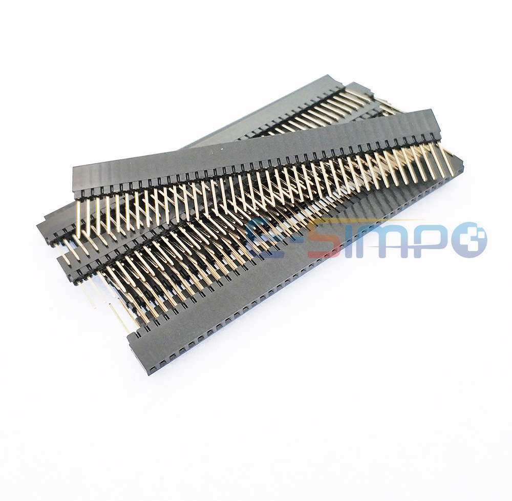 5pcs 2.54mm PC104 Female Header 1*40 Pin Single Stackable Shield Female Header Rohs Gold Plated PH8.5+2.5mm