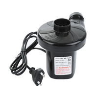 High Quality Black AC 110V 120V EU Car Electric Dual Power Air Pump Inflator Tool Air