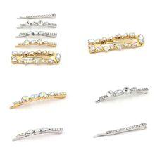 European Boutique Metallic Vintage Hair Clip Women Shimmer Irregular Rhinestone Jewelry Hairgrip Wedding Bridal Accessories
