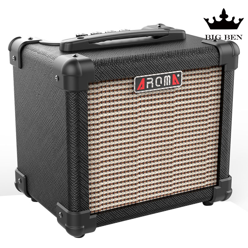 AG10 electric guitar amplifier,10W distortion clean sound guitar parts lightweight portable speaker Folk songs play street art image