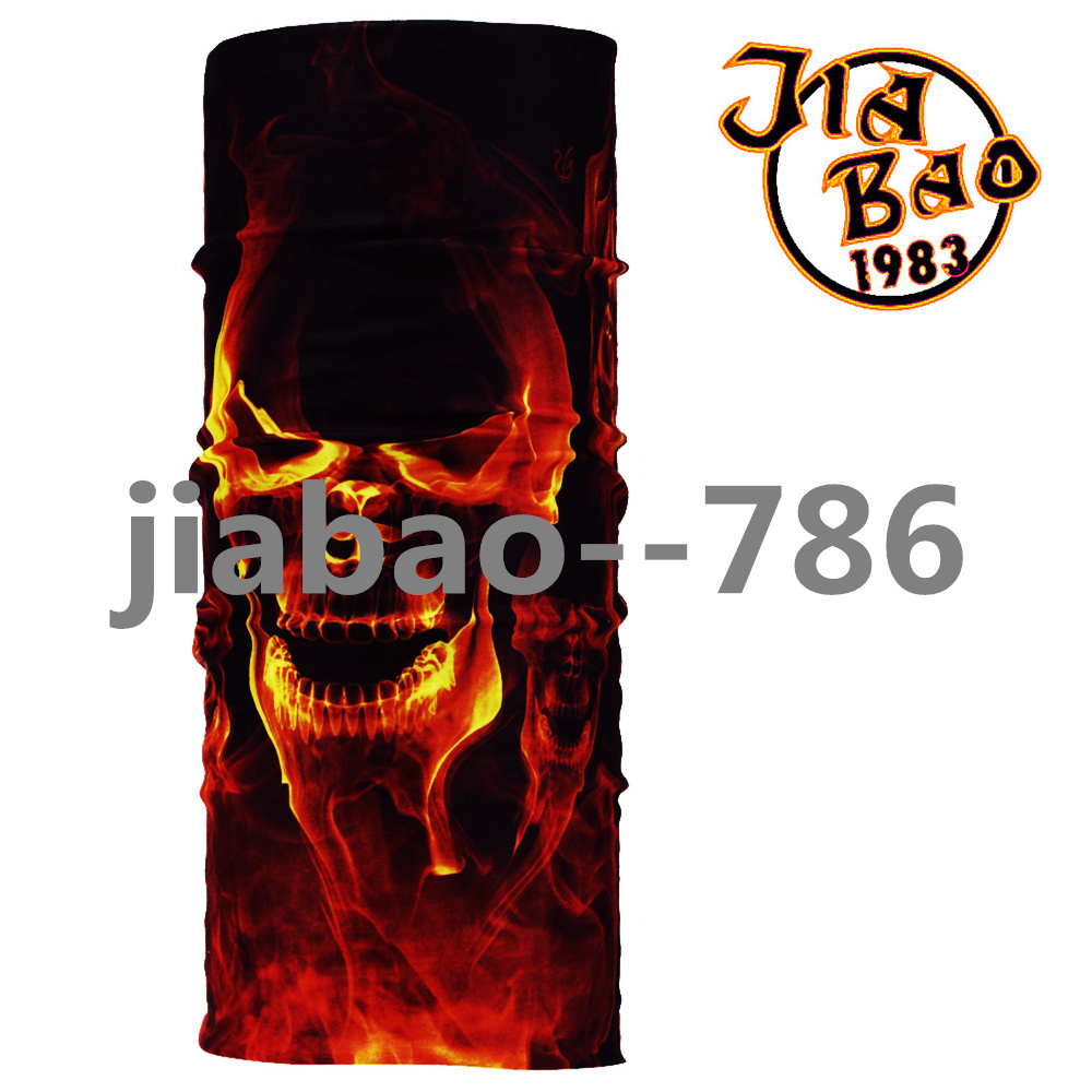 Skull Bandana Stretchable Tubular Bandana For 25*48cm Face Mask Cap Neck Tube Multifunctional Scarf Men Magic skull headwear