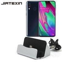 JIATEXIN dla Samsung Galaxy A20/A30 synchronizacji danych pulpitu typu C kabel USB stacja dokująca dla Samsung Galaxy A40 /A50 typu C Adapter w Adaptery do telefonów komórkowych od Telefony komórkowe i telekomunikacja na
