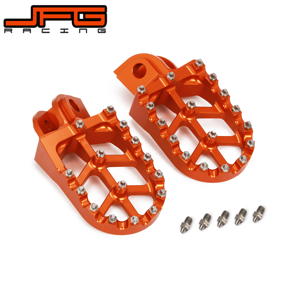 Gold Alloy Folding Foot Pegs Footrests Mini Moto Dirtbike Pitbike Minimoto MX