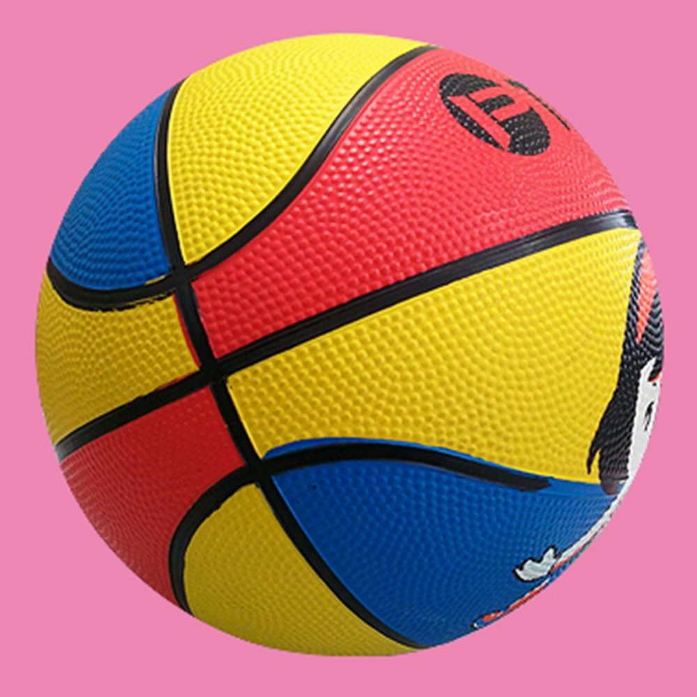 Funny Kid Jumping Basketball Cute Cartoon Portable Rubber Elastic Bouncing Ball Outdoor Ball Toys For Kids Child Fitness Hot