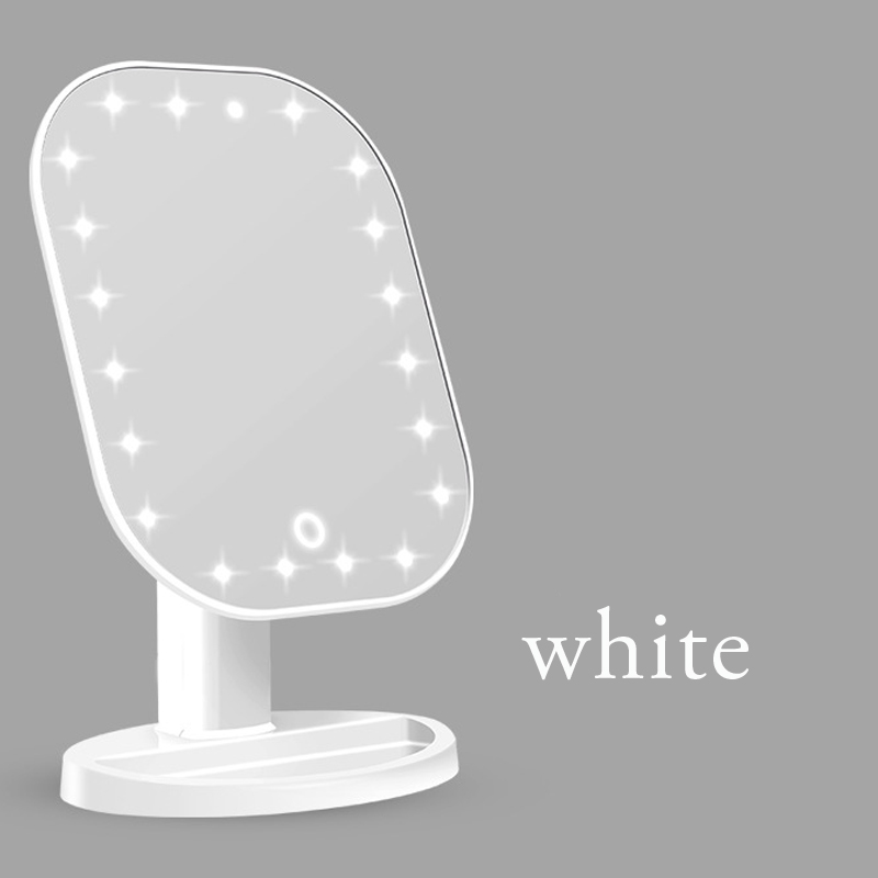 Touch Dimmer LED Mirror Touch Screen Makeup Mirror Luxury Mirror With 20 LED Lights 180 Degree Adjustable Table MakeUp Mirror