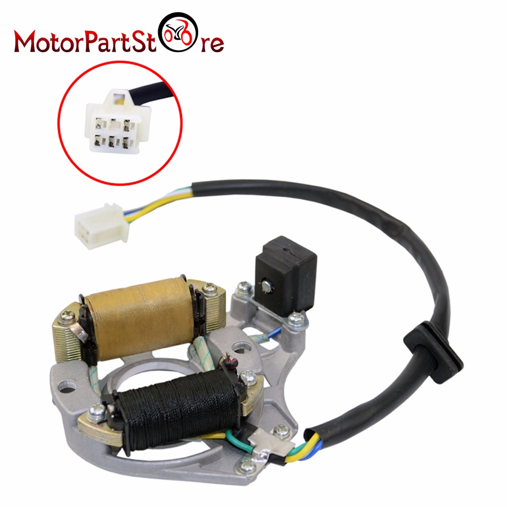 Stator Ignition Magneto Plate for 50 110 125cc ATV Quad 2 Coil Chinese TaoTao Sun buy coil sun and get free shipping on aliexpress com