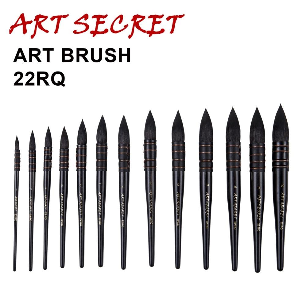22RQ alta qualità squirrel capelli manico in legno pennelli artistici pittura di arte della penna della spazzola per disegno ad acquerello
