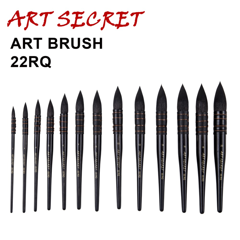 22RQ high quality squirrel hair wooden handle copper wire twisted watercolor art supplies artist paint brush 2840s high quality horse hair acrylic handle paint art supplies watercolor artist brush