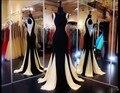 A finales de 2016 a largo plazo de la sirena con cuentas vestido de partido de La Celebridad del vestido de las mujeres vestido de noche DF147 personalizada de las mujeres